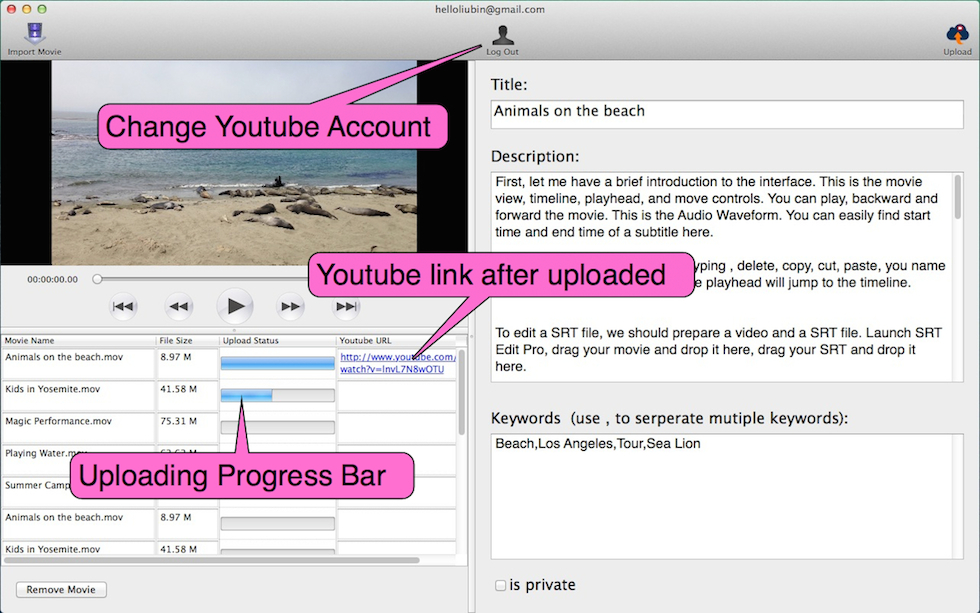 how to delete a youtube video on mac